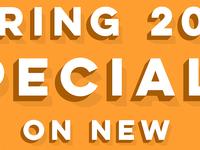 Spring 2018 Specials