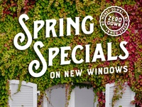 Spring Specials on New Windows