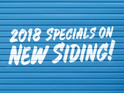 Siding Specials - Painted grunge realistic texture lettering brush paint