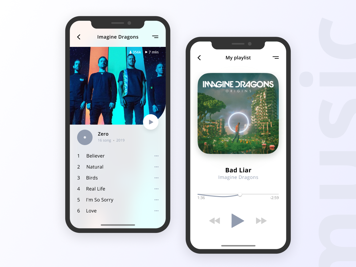 Music App illustration website app web ux minimal flat ui design