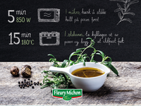 Fleury Michon packaging - handdrawn type