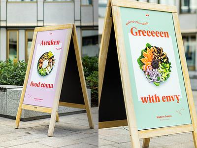 Modern Greens / signage identity moderngreens heymoderngreens
