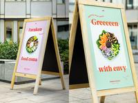 Modern Greens / signage