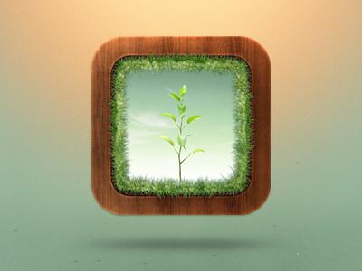 Reflorest reflorest florest green icon iphone ipad grass plant wood
