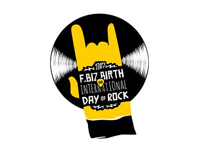 Project Logo Option logo logotype disco rock rock and roll yellow black identity id