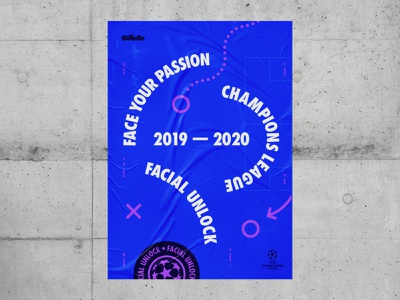 Gillette Facial Unlock ↗ 2019 poster art print print design typogaphy graphic  design poster design