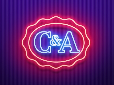 C&A Neon Valentine's Day Logo