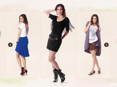 Zeit Fashion Website Concept design art direction concept fashion zeit clothes
