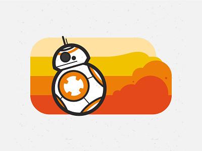 BB-8 character illustration wars star