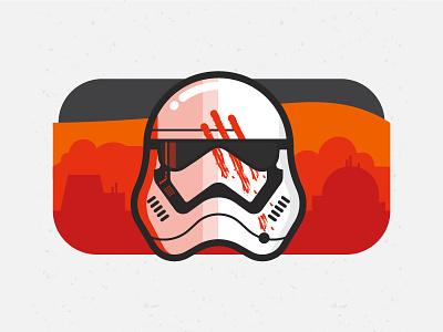 Finn wars star trooper storm finn illustration