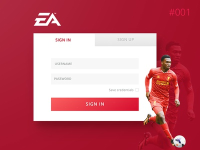 Daily UI #001 - Login sign in sport soccer football dailyui challenge ui daily web form