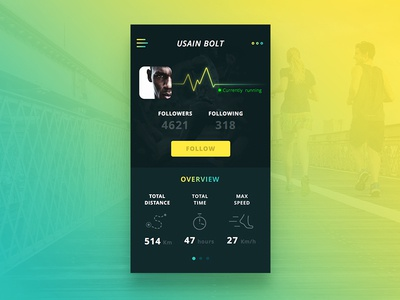 Daily UI #006 - User Profile dailyui profile user running fitness app ios challenge daily ux ui