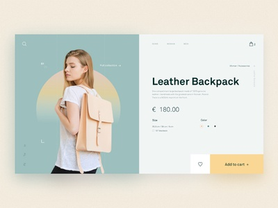 Fashion Store Product Page web ui typography type layout design gradient fashion e-commerce product minimal