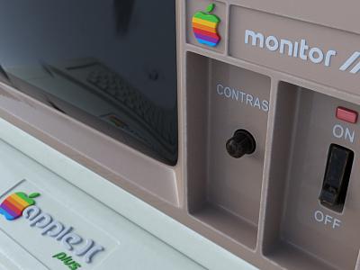 Apple 2 Computer greyscalegorilla c4dtoa cinema4d c4d 3d computer apple2