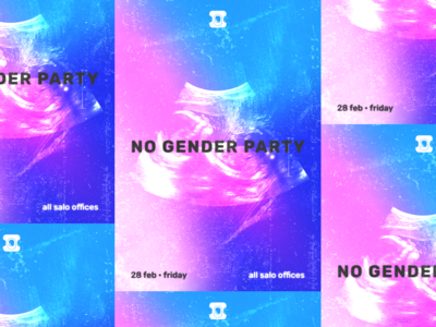 no gender party poster
