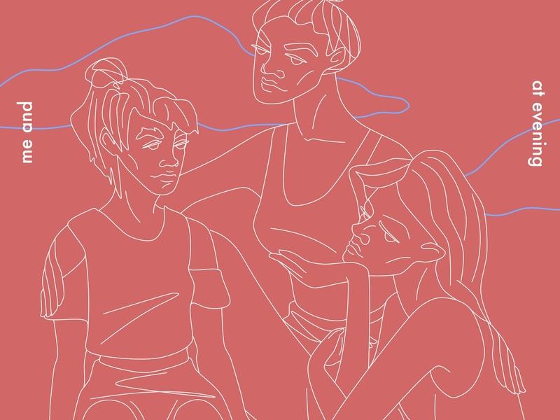 three girls book cover fashion illustration design line art vector conceptual artwork cover poster illustration