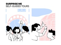 self-guided tours illustrations