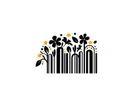 Bar Code logo concept art direction branding vector illustration digital logo