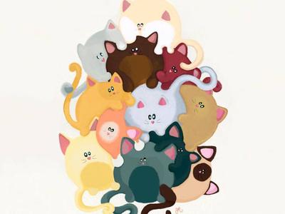 Love Cat Mountain illustration