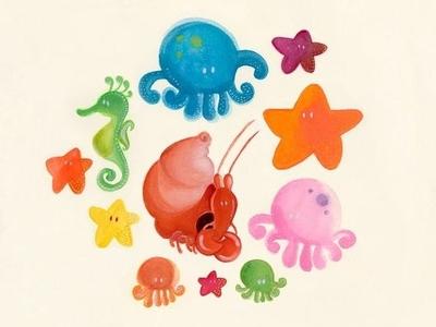 Sea Friends illustration