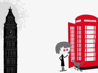 I Love London vector illustration