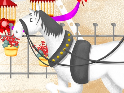 horse_cover detail digital illustration