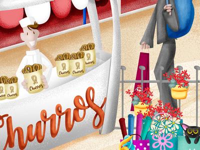 Churros_cover detail digital illustration