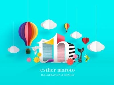 Cropped Esther Maroto Home 1 logo typography branding digital illustration