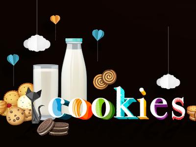Cookies web typography digital illustration