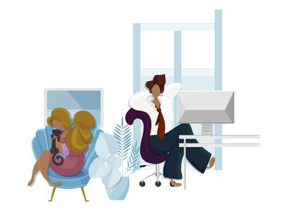 Landing Page Illustration pencil vector digital illustration