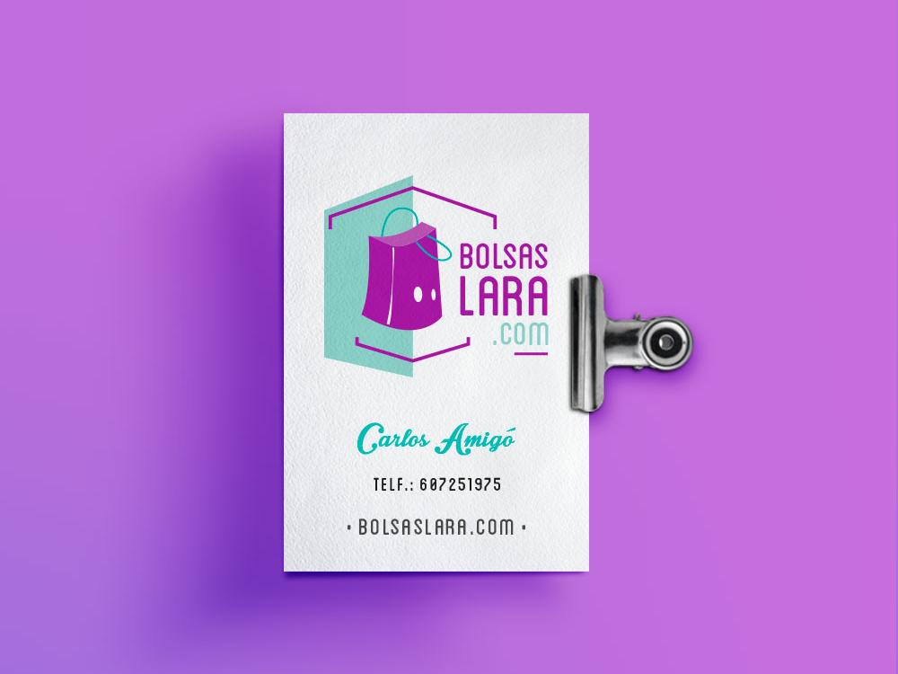 Bolsas Lara logo branding vector digital illustration