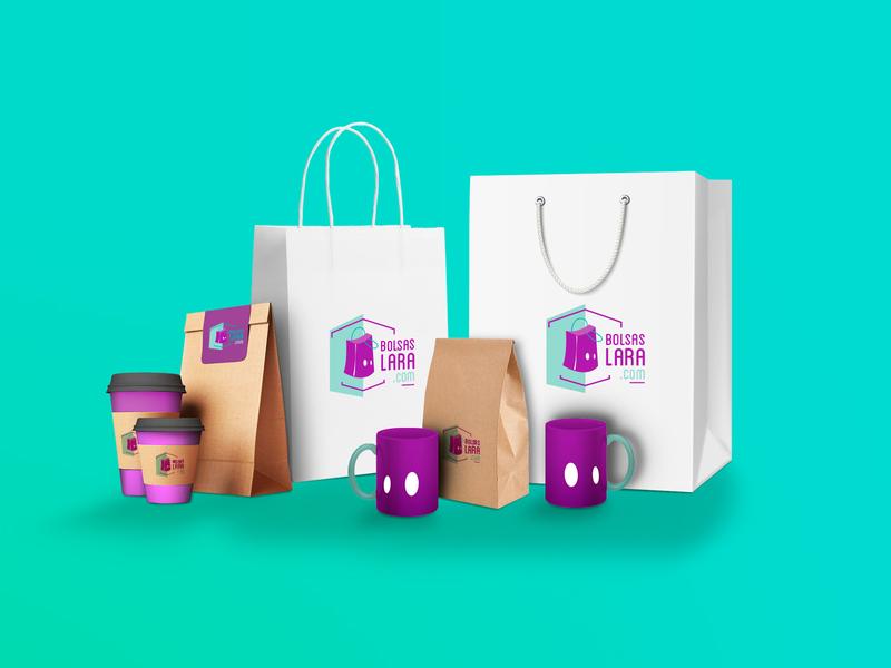 Bolsas Lara corporate branding vector digital illustration