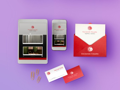 Enciende Estudio Stationary Esther Maroto visual  identity logo branding