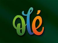 Ole Logo vector lettering typography logo branding