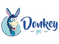Donkey Logo art direction design pencil vector illustration logo branding