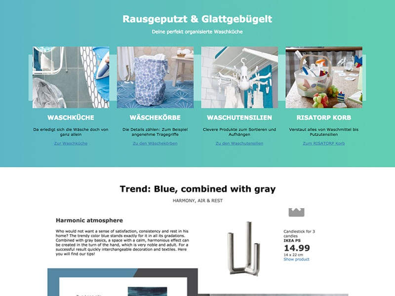 Ikea - wohnaccessoires decor accessoires ikea box colors grid gradients home teaser details interface