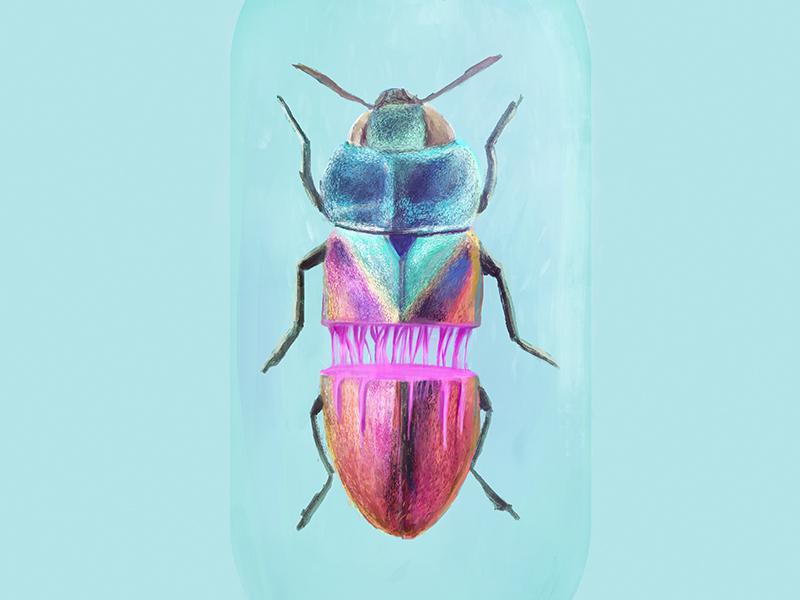 Bug design arts digital brushes drawing painting photoshop gradients blood digital painting bug illustration