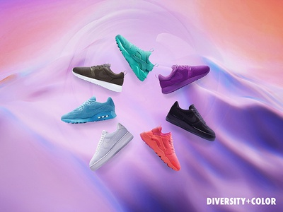 Nike - Diversity + Color design germany banner e-commerce key visual diversity shoes web digital colorful campaign nike