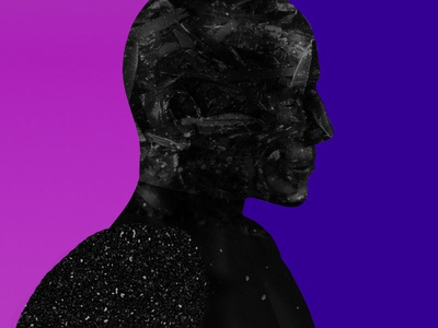 Darkmoon face human cinema4d textures experiment purple black dark guy male 3d