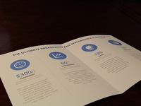 Brochure with Flat Icons