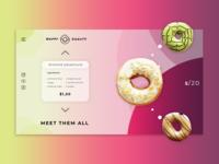 Delicious Donuts. Web Concept.