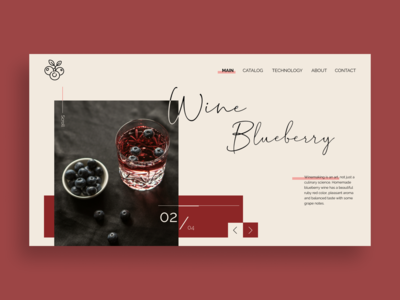 Winemaking Company Website Concept