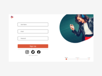 Music Streaming Signup page