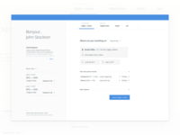 Travel Search Wireframe