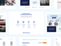 Coast Appliances - E-commerce Store measurements responsive product page appliances waves isometric icons web ui ecommerce ux product design