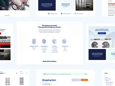 Coast Appliances - E-commerce Store measurements responsive product page appliances waves isometric icons web ui ecommerce ux product design