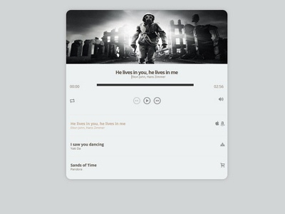 Music Player design ui audio web jplayer widget music music player