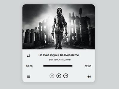 Focus Audio Player With Playlist  design ui audio web jplayer widget music music player jquery focus