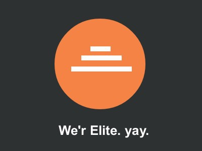 We're Elite. YAY! expressing triumph envato elite envatomarket metrothemes elite author themeforest happy achievement
