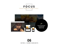 FOCUS -A Minimal WordPress Theme for Photographer